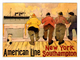 American Line  New York to Southampton