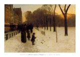 Boston Common au crépuscule, 1885-86 Reproduction d'art par Childe Hassam