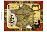 Carte de France des vins Reproduction d'art