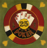 Twenty-Five Dollar Poker Chip