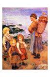 Les pêcheurs de moules à Berneval Giclée par Pierre-Auguste Renoir