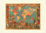 British Empire Map  1886