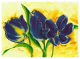 Three Blue Tulips