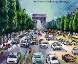 Arc de Triomphe and Avenue des Champs Elysees