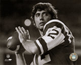 Joe Namath - Posed Passing Without Helmet (B & W)
