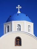 Close-Up View of a Greek Orthodox Church