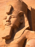 Detail of Head from Seated Colossi of Ramesses II at Abu Simbel