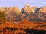 A Farm and the Teton Range