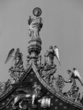 Detail of Pediment Sculptures Adorning Basilica of San Marco