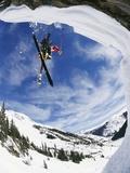 Skier Performing Jump