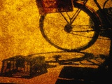 Bicycle Casting Shadow