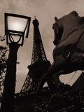 Carousel Horse  Street Light and Eiffel Tower