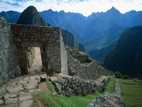 Archaeological Ruins on Machu Picchu Hillside