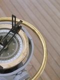 Navigational Compass on Deck of Sailboat