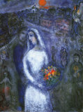 Le couple Reproduction d'art par Marc Chagall