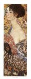 Dame à l'éventail Reproduction d'art par Gustav Klimt
