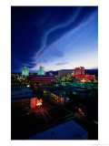 Desert Cloud Formation Over the City  Reno  USA