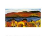 Lac George, automne,1927 Reproduction d'art par Georgia O'Keeffe