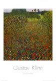 Champ de coquelicots Reproduction d'art par Gustav Klimt