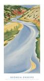 Rivière bleue Reproduction d'art par Georgia O'Keeffe