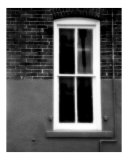 Window and Lamp in Black and White