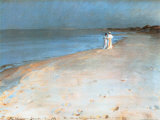 Summer Evening at the South Beach  Skagen  c1893