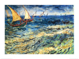 Seascape at Saintes-Maries  c1888