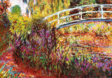 Le pont japonais à Giverny Reproduction d'art par Claude Monet