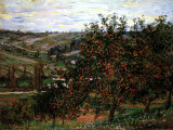 Apple Trees in Bloom at Vetheuil, c.1887 Reproduction d'art par Claude Monet