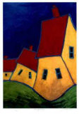 Three Yellow Houses