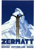 Zermatt Reproduction d'art par Pierre Kramer