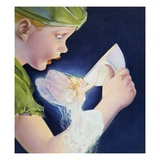 Book Illustration of Tinkerbell Saving Peter Pan by Roy Best