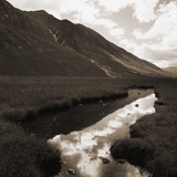 River in Glacial Valley