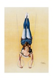 Poster Depicting a Female Acrobat Using Rings