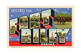 Greeting Card from Fort Riley  Kansas