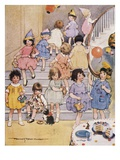 Illustration of a Children's Birthday Party by Frances Tipton Hunter