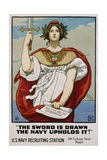 The Sword Is Drawn the Navy Upholds It! Recruitment Poster