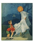 Magazine Cover Depicting Children on Halloween by Miriam Story Hurford