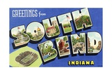 Greeting Card from South Bend  Indiana