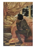 Illustration of Sleeping Beauty and the Prince by Jessie Willcox Smith