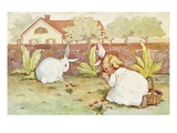 Easter Postcard from Playful Bunnies