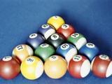Balls on a Pool Table