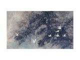 Cranes in Pinewood Giclée par Haizann Chen