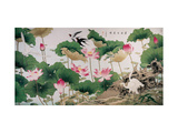 On Lotus Pond Giclée par Hsi-Tsun Chang