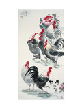 Roosters and Peonies
