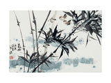 Birds in Winter Morning Giclée par Wanqi Zhang