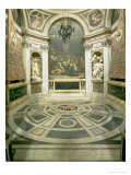 Interior View of the Octagonal Chigi Chapel  Begun by Raphael in 1513 Completed 1652