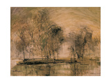 Willows in Morning Wind Giclée par Wanqi Zhang