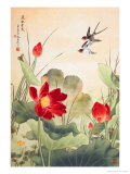 Birds over Lotus Pond