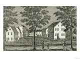 "Shaker Houses in Enfield  from ""Connecticut Historical Collections "" by John Warner Barber  1856"